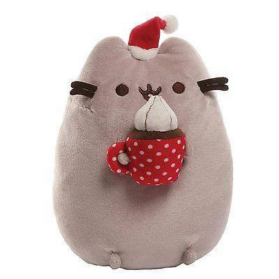 Gund PUSHEEN Stuffed Plush Hot Chocolate with Cream Christmas