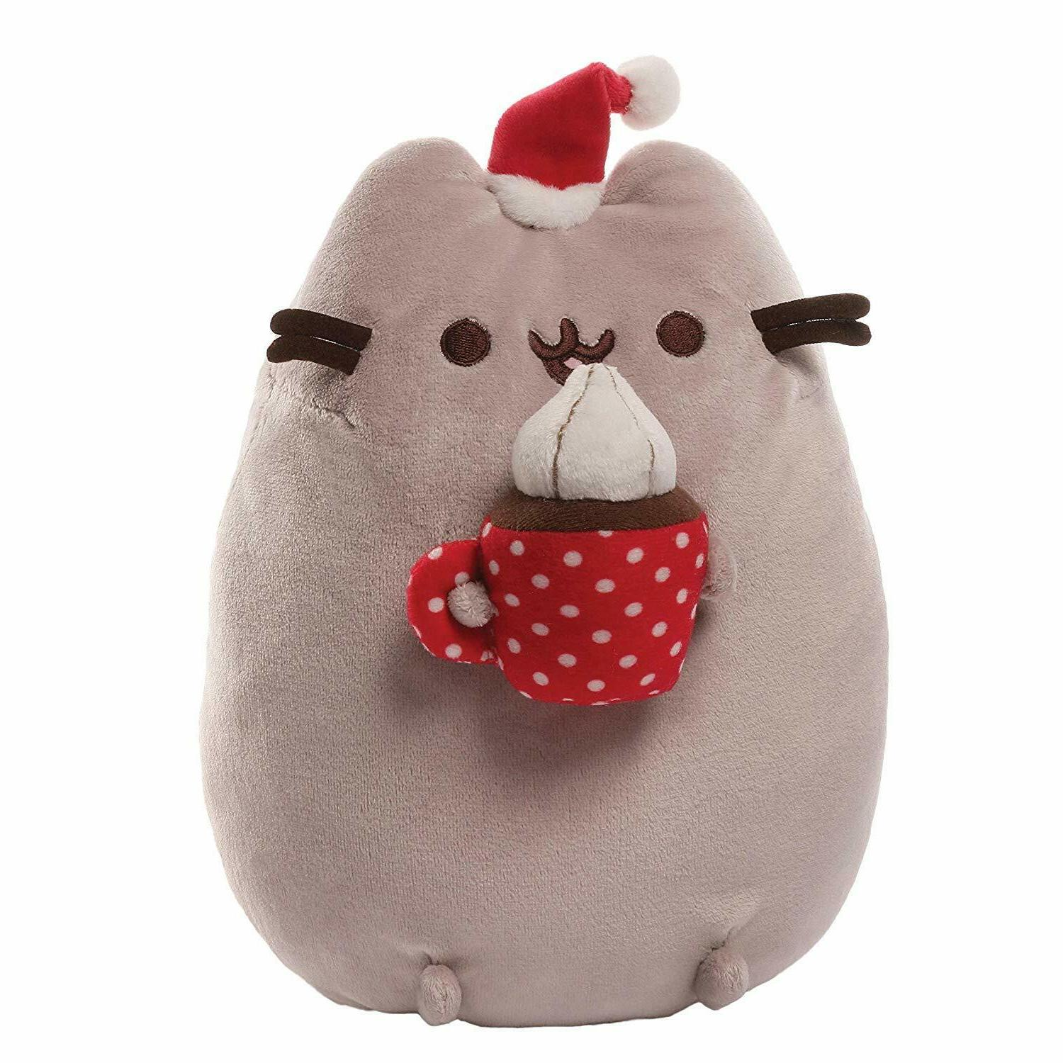 pusheen cat stuffed plush mug