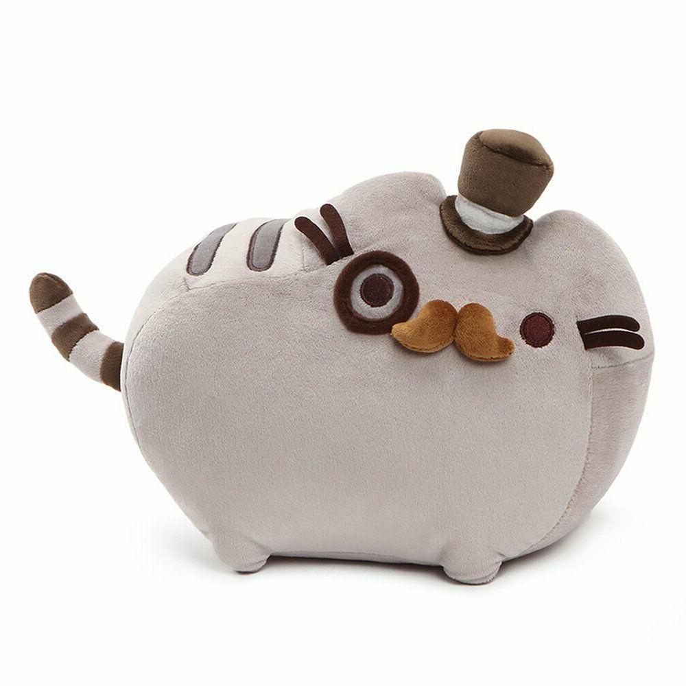 pusheen fancy cat plush stuffed animal gray