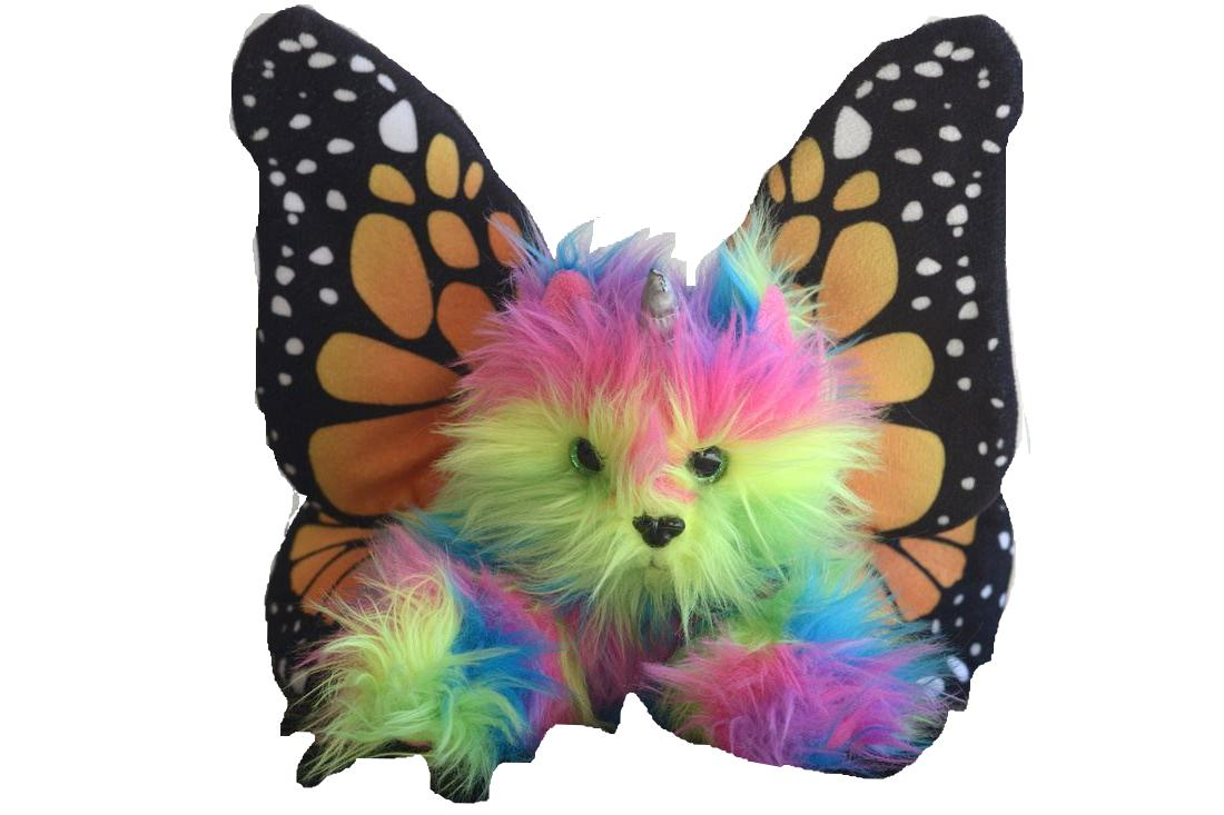 rainbow butterfly unicorn kitten stuffed toy stuffed