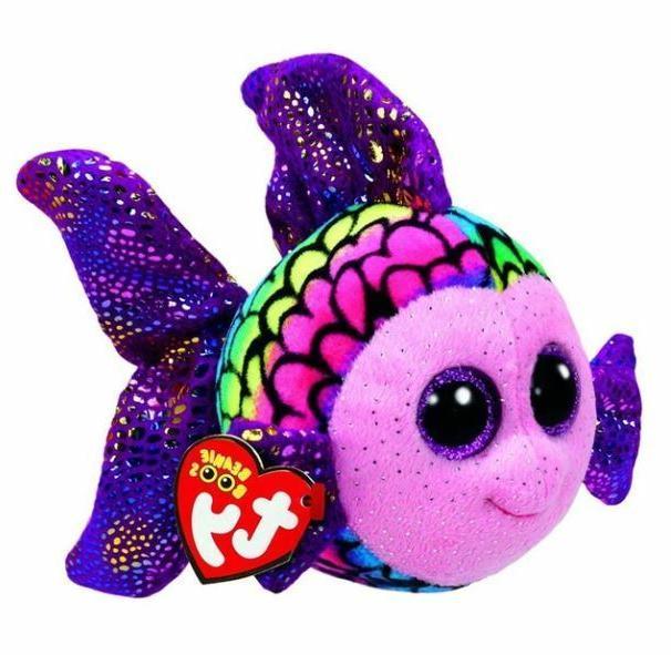 rainbow fish 6 beanie boos puppy glitter