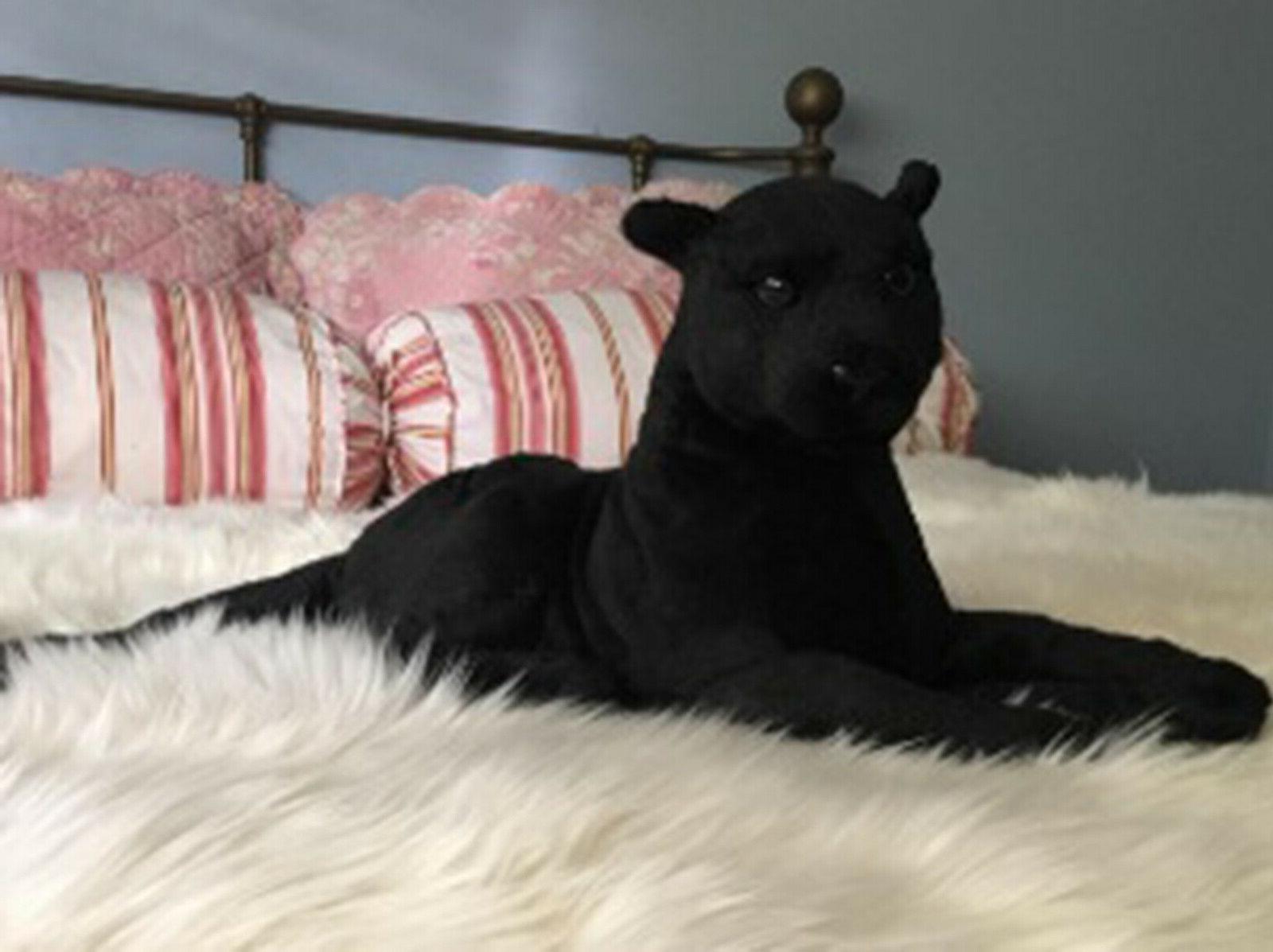 Realistic Black Pet Plush, Kids And Stuffed Animal Doll Toy