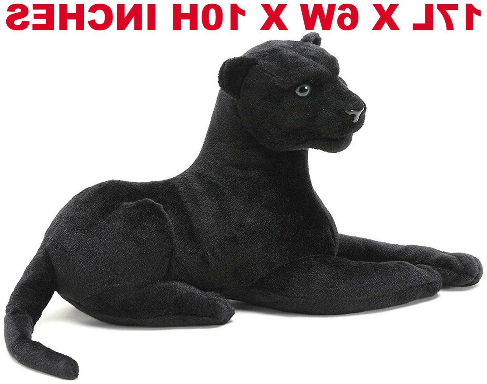 realistic black panther pet plush kids
