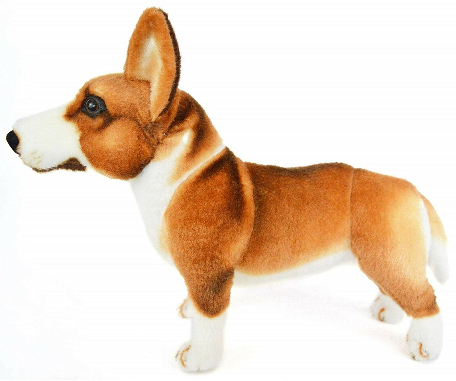 Realistic Corgi Plush, Stuffed Doll