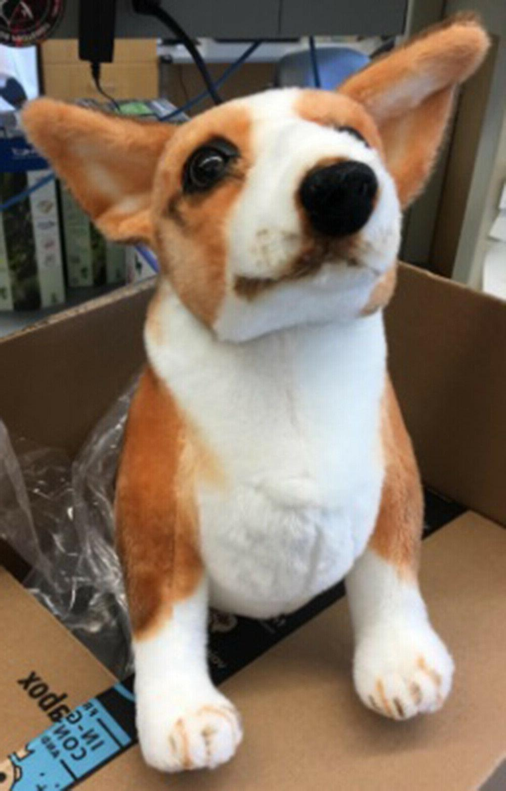 Realistic Corgi Dog Stuffed Gift