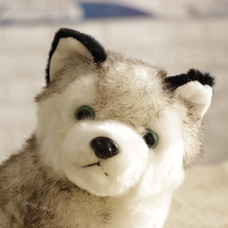 """Realistic Toy Wolf Pet Doll Kid Gift 7"""""""
