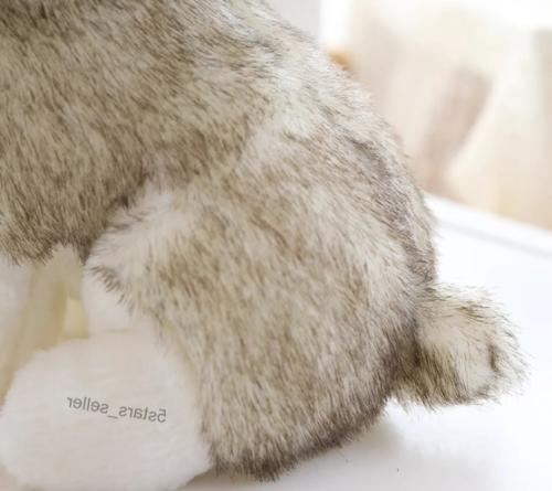 Realistic Dog Toy Wolf Pet Cute Kid Gift