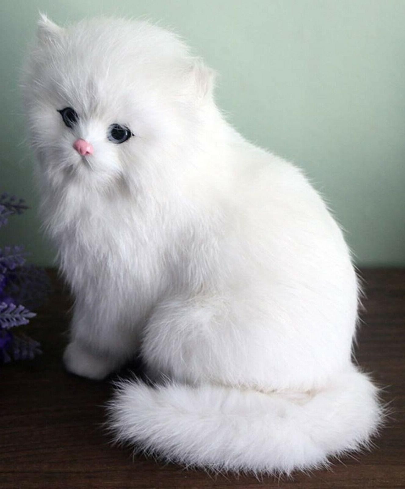 Realistic Cat Plush, Kids And Children Stuffed Gift