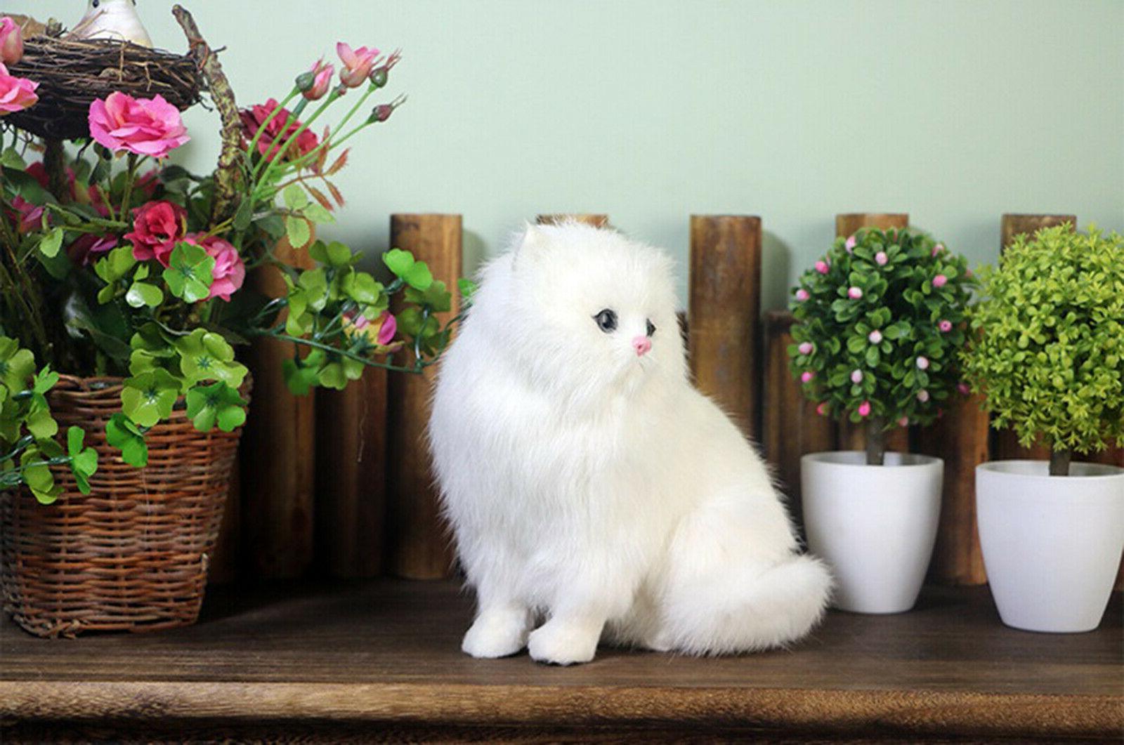 Realistic Persian Cat Plush, Kids And Children Stuffed Gift