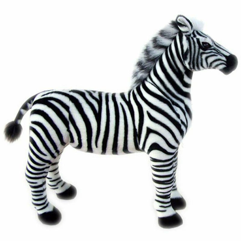 Jesonn Realistic Plush Stuffed Animals Zebra Horse Toys For