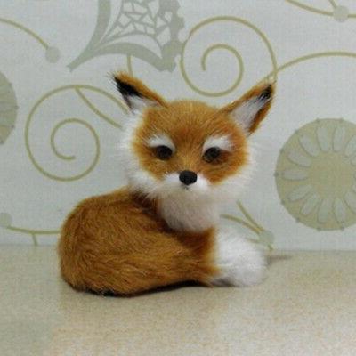 Realistic Animal Soft Plush Kids Sitting Fox Home New