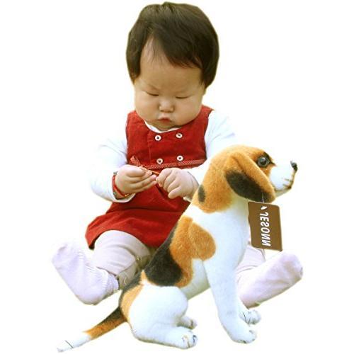 "Jesonn Stuffed Sitting Plush Dog,10"" 25CM,1PC"