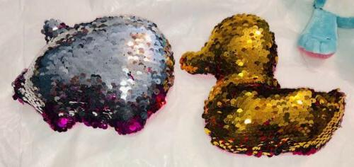 REVERSIBLE SEQUIN ANIMALS CHANGES FROM PINK TO
