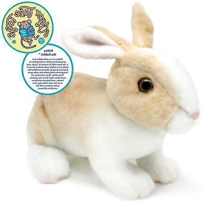 robbie rabbit realistic stuffed animal