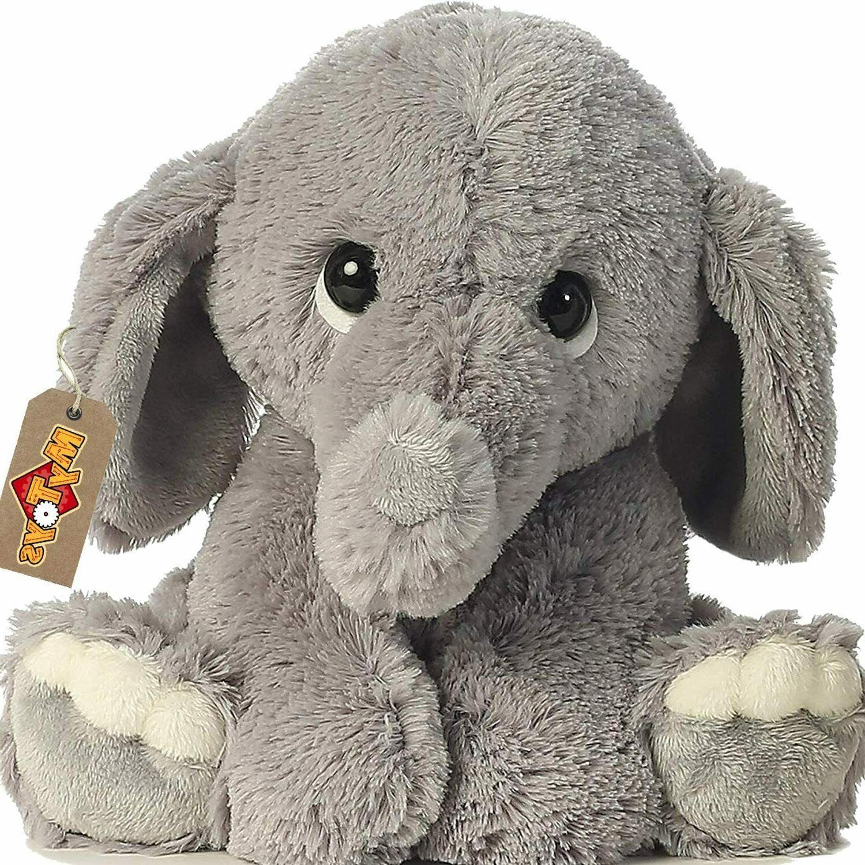 RORA Stuffed Elephant Animal Plush Toy for Baby, Girls, Boys