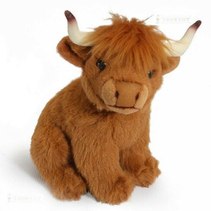 scotland highland cow calf stuffed animal soft