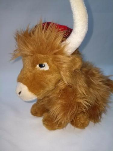 Keel Toys Highland Cow Tartan Plush Cuddly Toy Animal