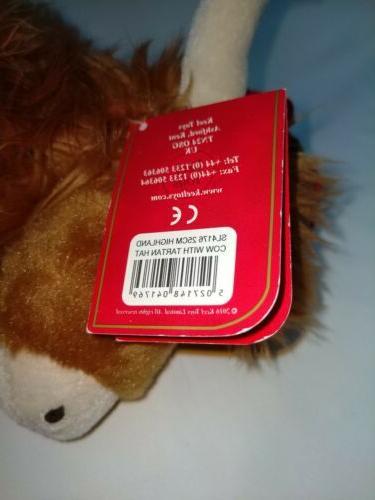 Keel Toys Cow Tartan Plush Cuddly Toy Animal
