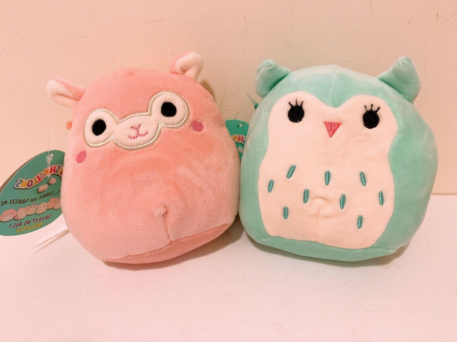 set of 2 squishmallow easter alpaca