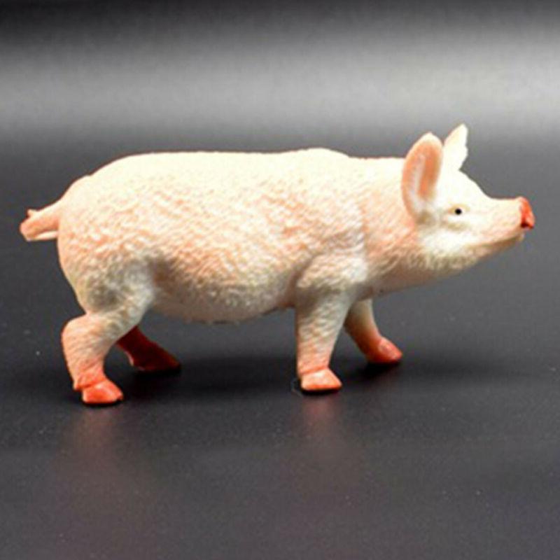 14pcs/set PVC Farm Horse Pig Figure Toys