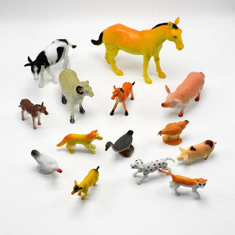 14pcs/set PVC Horse Model Figure Gifts Teaching Toys