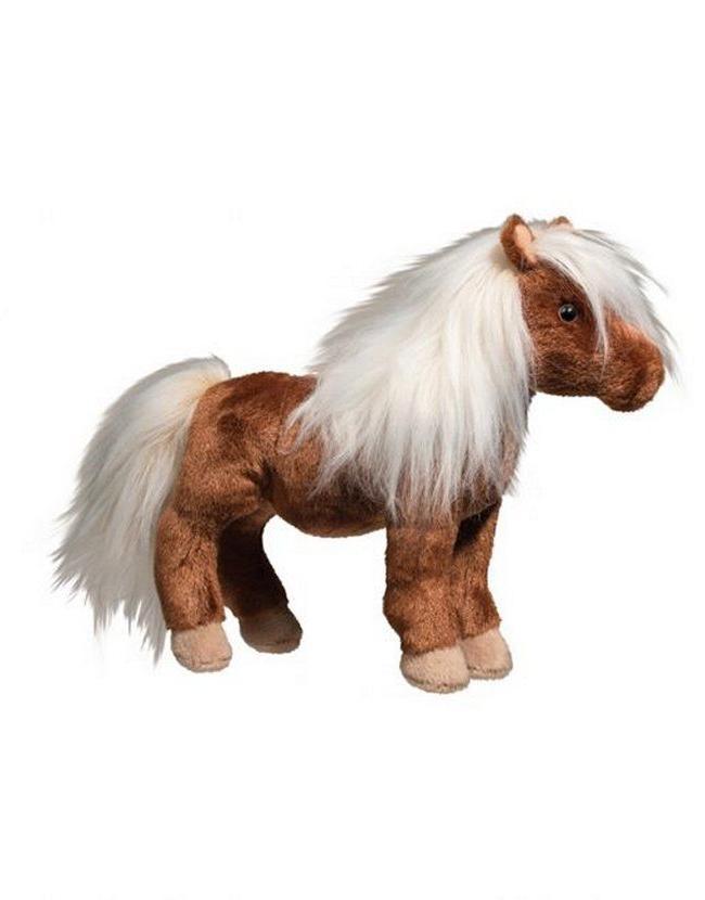 Douglas Shetland Horse Stuffed Animal Plush Toy Brown Cuddle NEW