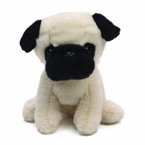 shmossy pug dog stuffed animal