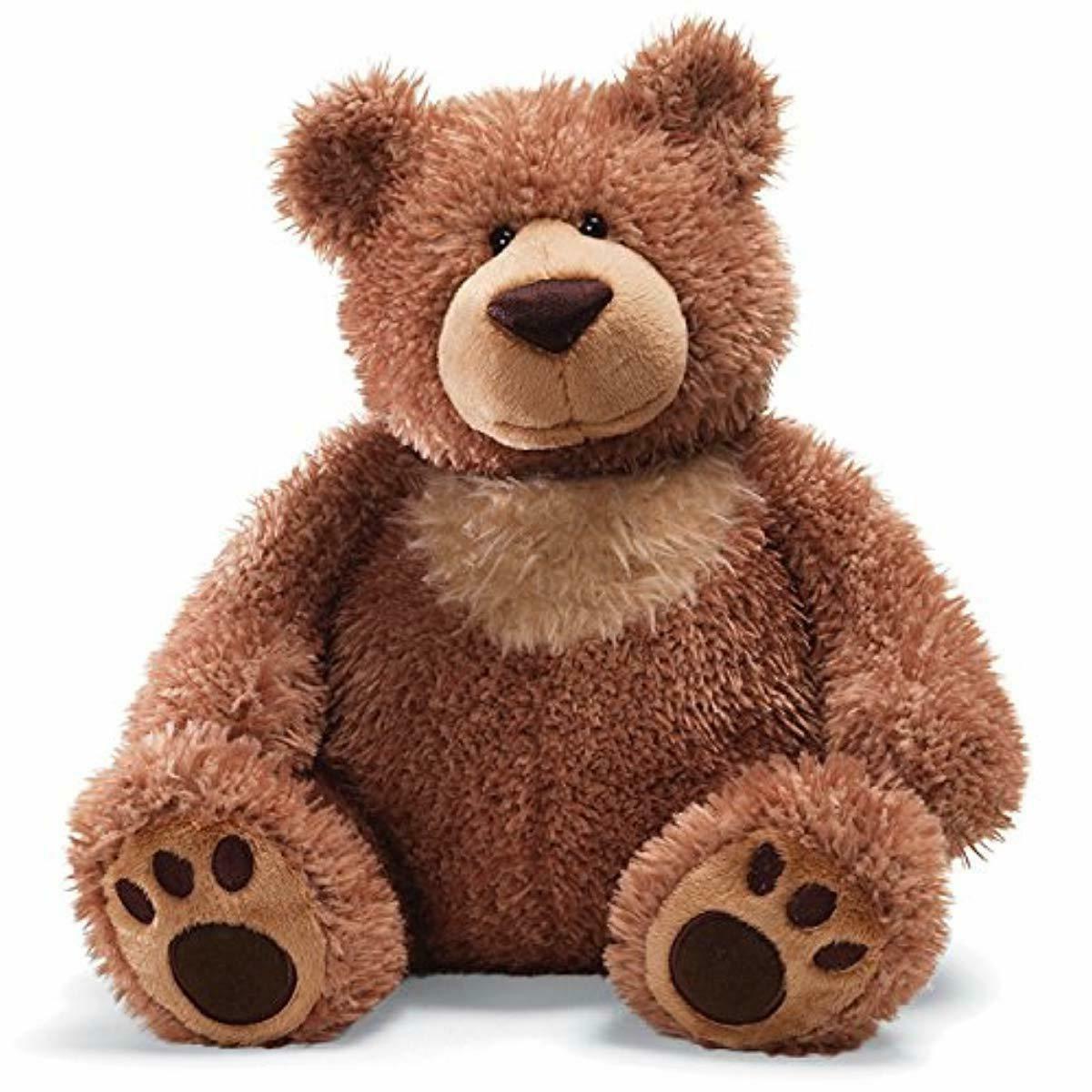 slumbers teddy bear stuffed animal plush brown