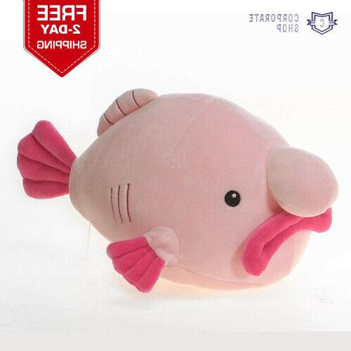 snugglies pink blob fish stuffed animal toy