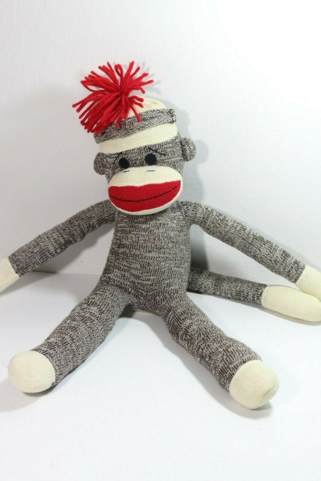 sock monkey plush stuffed animals kids toys