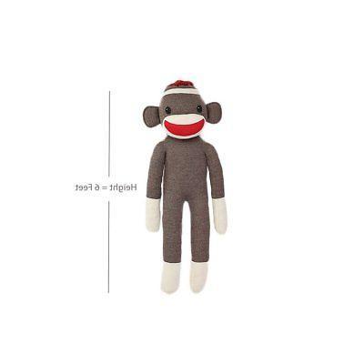 Sock Monkey Stuffed Animals Kids Toys Gifts Adorable Huge Li