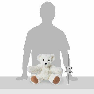 Vermont Teddy Cuddly Bear Stuffed & White, (Amazon
