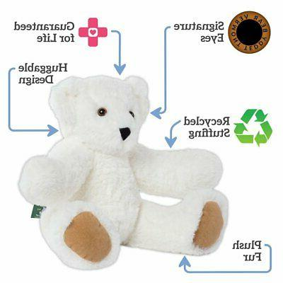 "Vermont Bear Cuddly Bear & White, 15"" (Amazon"