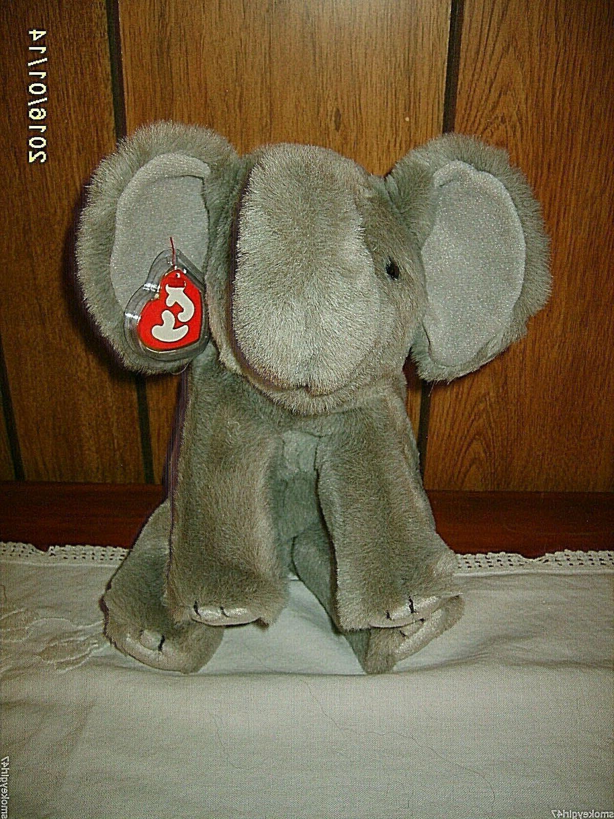 Ty Spout  Elephant Plush 1997  ~  Vintage, Retired NWMT