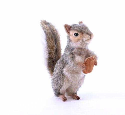 "Hansa Squirrel Plush, 8"", Gray , New, Free Shipping"