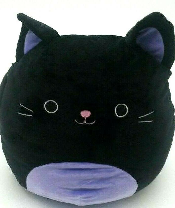 squishmallow autumn black cat 12 plush pillow
