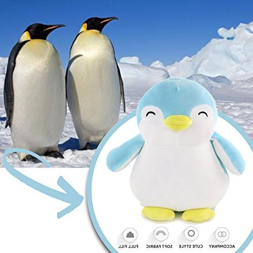 WEWILL Penguin Squishy Plush Gift for Christmas Birthday Festive Blue,