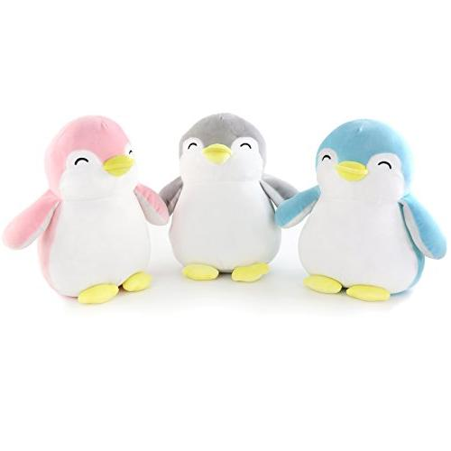 WEWILL Penguin Stuffed Animals Squishy Plush Toys Gift for Christmas Blue,