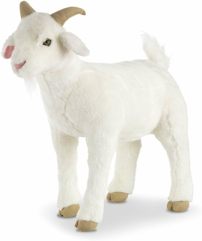 Melissa & Doug Standing Lifelike Plush Goat Stuffed Animal,