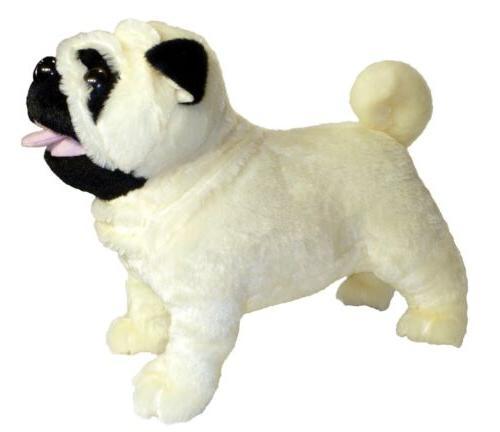 standing misfit farting pug dog