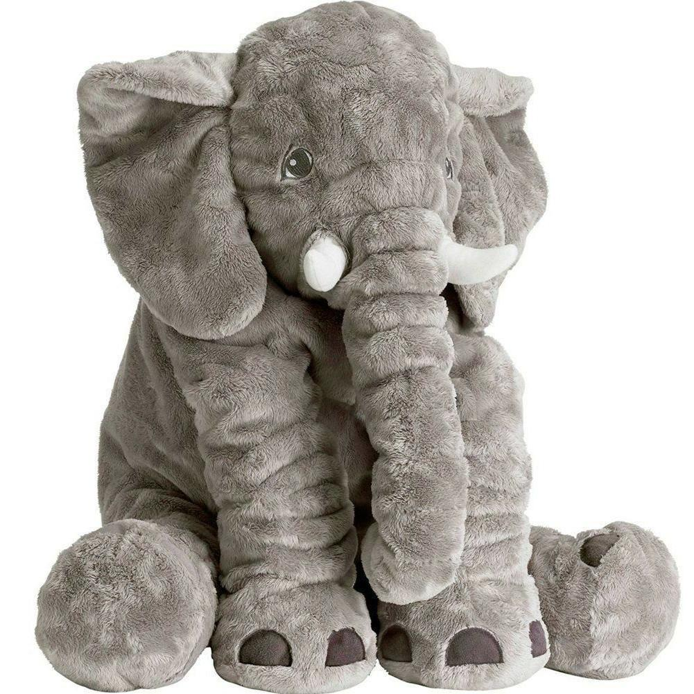 stuffed animal elephant plush toy pillow grey
