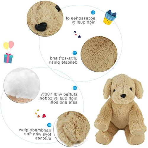 WEWILL Stuffed Super Golden Retriever Cuddly Unique Gift Toy
