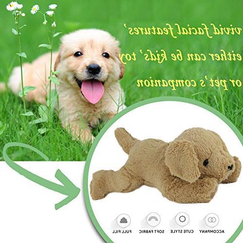 WEWILL Super Plush Retriever Dog, Toy Christmas,