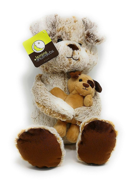 stuffed animals dog and puppy