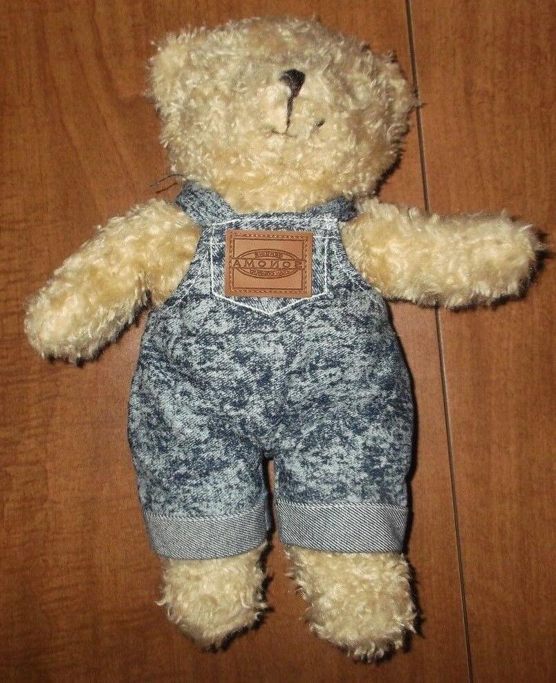 stuffed animals teddy bear dressed in jeans