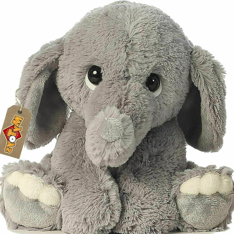 Stuffed Elephant Animal Plush - Toys for Baby, Boy, Girls  9
