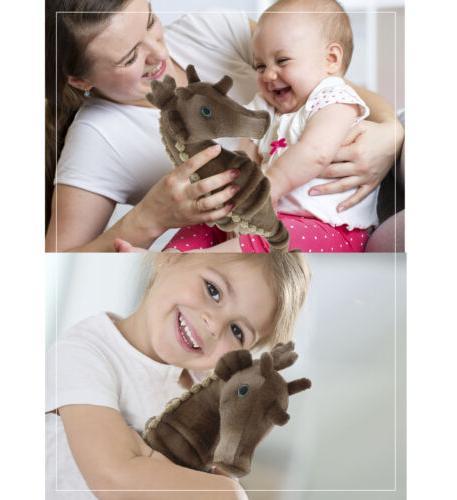 Dollibu Stuffed Plush Wild Animals Horse- 12 in.