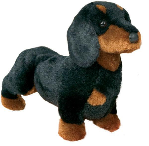 Stuffed Spats Black and Tan Dachshund Dog 14