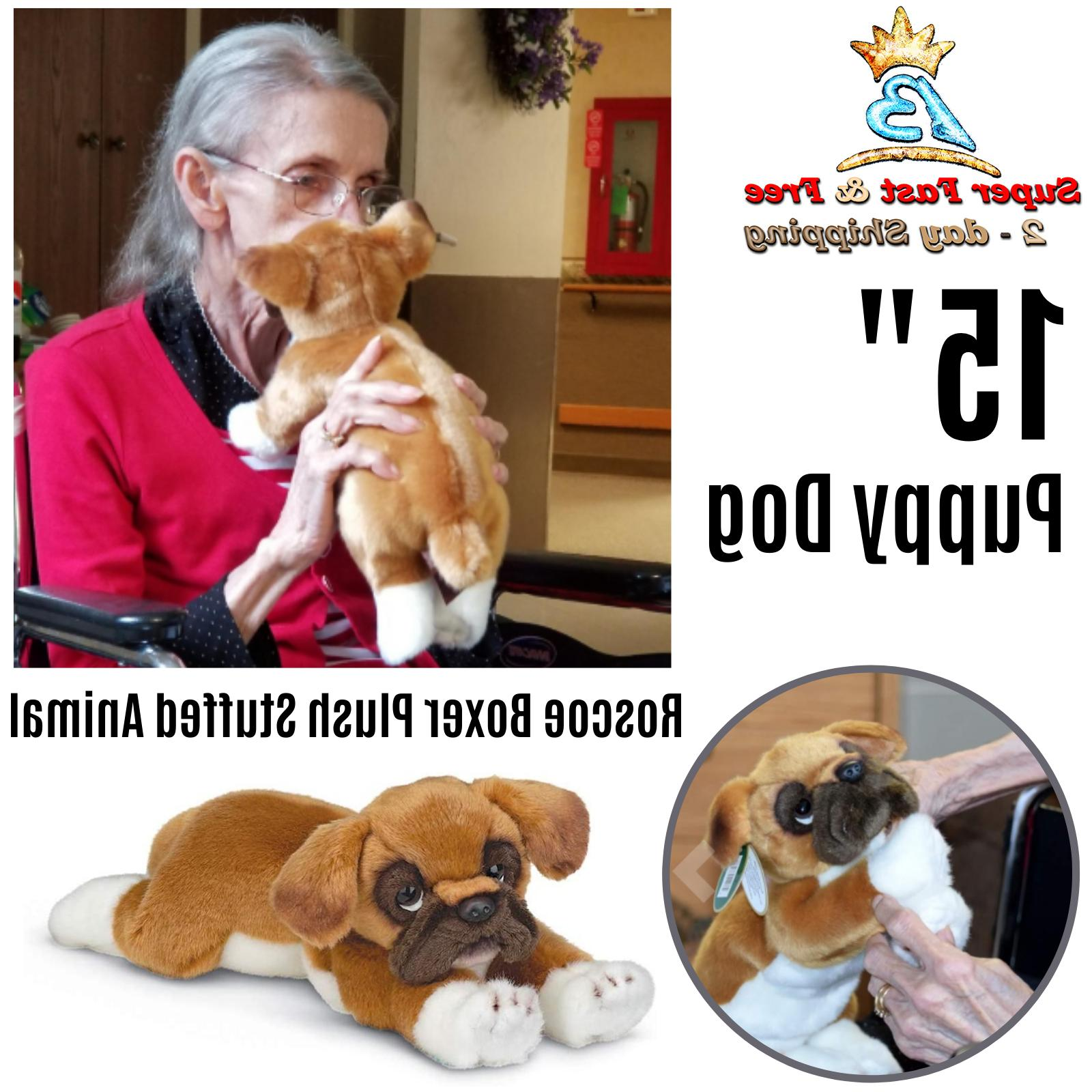 Stuffed Toy Puppy Dog Roscoe Boxer Kitten Animal Plush Colle