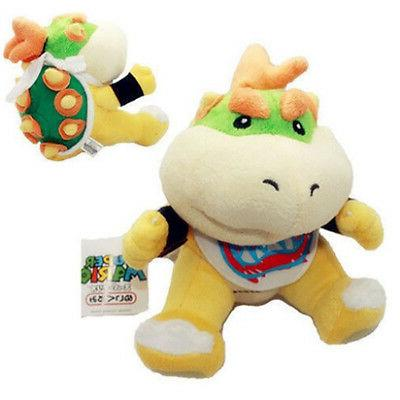 "Super Mario Bowser Jr Baby Toy Stuffed 6"" Stock"